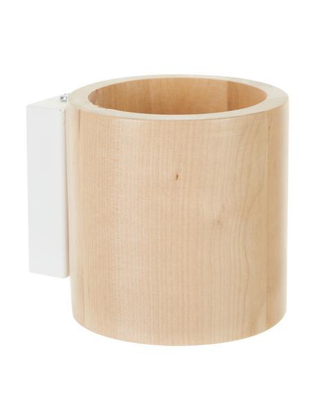 Aplique de madera Roda, Pantalla: madera, Fijación: madera, Beige, Ø 10 x Al 12 cm