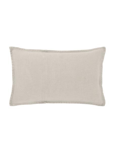 Poszewka na poduszkę z lnu Leona, 100% len, Beżowy, S 30 x D 50 cm