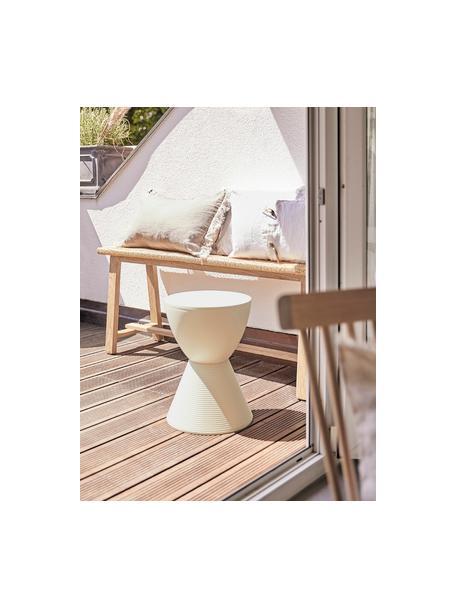 Stołek/stolik pomocniczy Prince AHA, Pigmentowany polipropylen, Kremowy, Ø 30 x W 43 cm