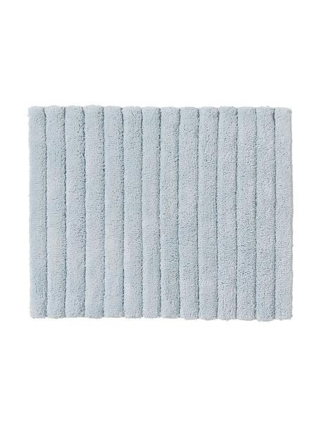 Flauschiger Badvorleger Board, Baumwolle, schwere Qualität, 1900 g/m², Hellblau, 50 x 60 cm