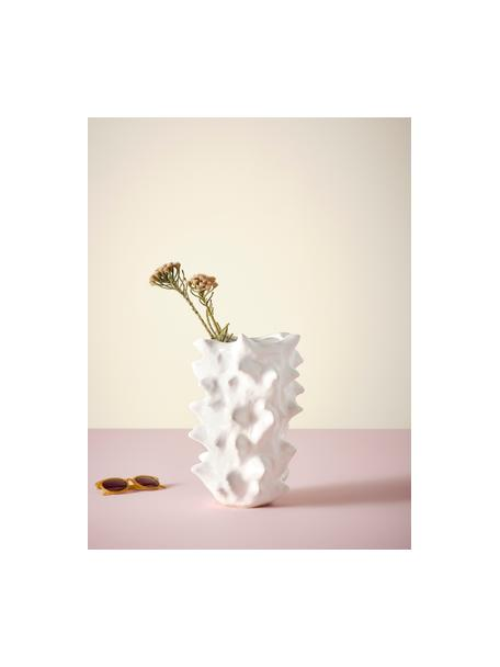 Keramik-Vase Delia in Weiß, Keramik, Weiß, 24 x 36 cm
