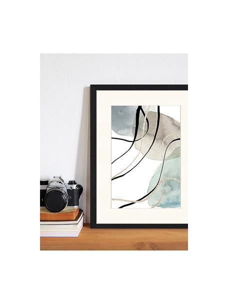 Gerahmter Digitaldruck Geometric Poster, Bild: Digitaldruck auf Papier, , Rahmen: Holz, lackiert, Front: Plexiglas, Mehrfarbig, 33 x 43 cm