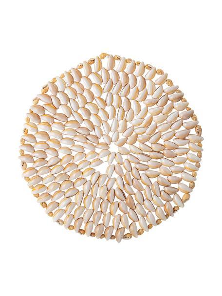 Schelpen placemat Subbi, Schelpen, Beige, wit, Ø 20 cm