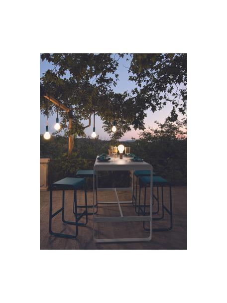 Mobiele outdoor lamp Aplô, Lampenkap: polyethyleen, Voetstuk: gecoat aluminium, Wit, okerrood, Ø 12 x H 25 cm