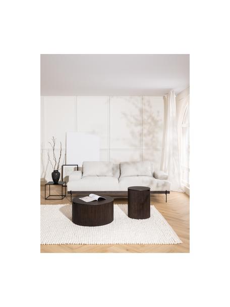 Sofa Brooks (3-Sitzer) in Beige mit Metall-Füßen, Bezug: Polyester Der Bezug ist n, Gestell: Kiefernholz, massiv, Rahmen: Kiefernholz, lackiert, Füße: Metall, pulverbeschichtet, Webstoff Beige, 230 x 75 cm