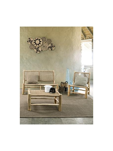 Tavolino basso da giardino in legno di teak Lampok, Struttura: legno di teak, Beige, Larg. 80 x Alt. 40 cm