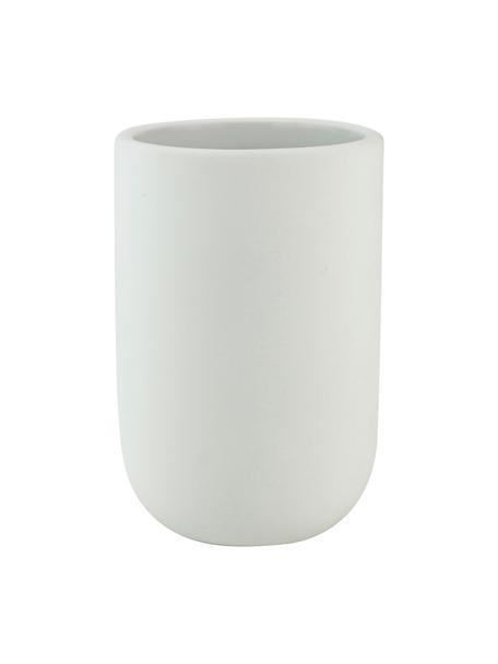 Porta spazzolini in ceramica Lotus, Ceramica, Bianco, Ø 7 x Alt. 10 cm