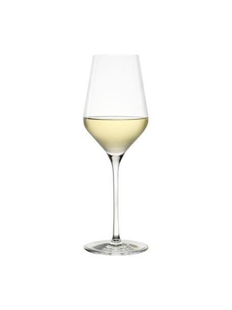 Kristall-Weissweingläser Quatrophil, 6 Stück, Kristallglas, Transparent, Ø 8 x H 25 cm