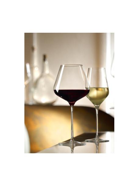 Kristallen witte wijnglazen Quatrophil, 6 stuks, Kristalglas, Transparant, Ø 8 x H 25 cm