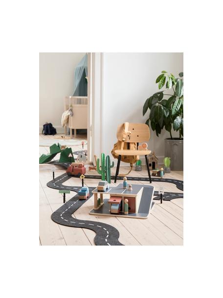 Kinderstoel Oakee, Frame: gelakt metaal, Zitvlak: beukenhout met eikenhoutf, Eikenhoutkleurig, 37 x 57 cm