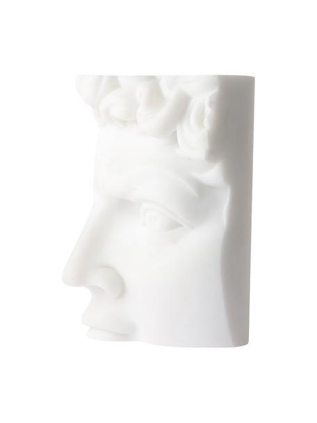 Decoratief object David, Kunsthars, marmerpoeder, Wit, 9 x 16 cm