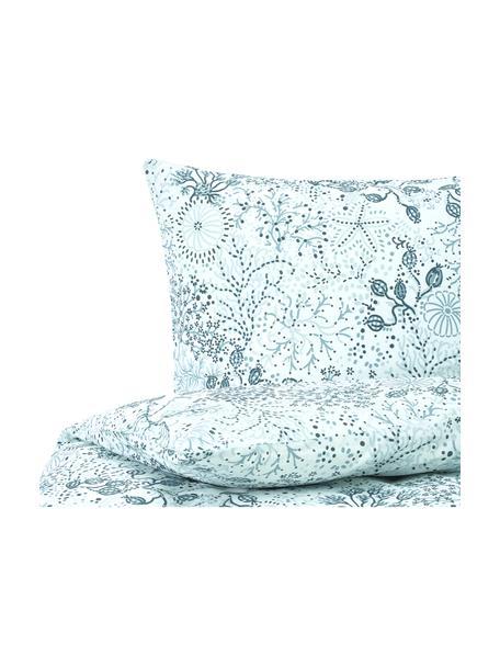 Pościel z bawełny Nadira, Niebieski, 135 x 200 cm + 1 poduszka