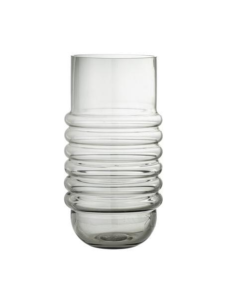 Glazen vaas Belma in grijs, Glas, Grijs, Ø 16 x H 30 cm