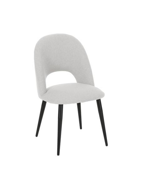 Krzesło tapicerowane Rachel, Tapicerka: 100% poliester Dzięki tka, Nogi: metal malowany proszkowo, Szary, S 53 x G 57 cm
