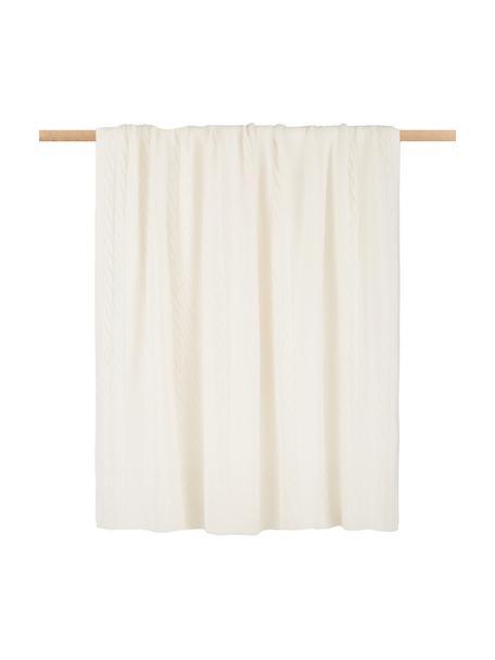 Pled z kaszmiru Leonie, 100% kaszmir Kaszmir to bardzo miękka, wygodna i ciepła tkanina, Kremowobiały, S 130 x D 170 cm