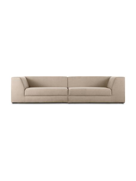 Modulares Sofa Grant (3-Sitzer) in Taupe, Bezug: Baumwolle 20.000 Scheuert, Gestell: Fichtenholz, Webstoff Taupe, B 266 x T 106 cm