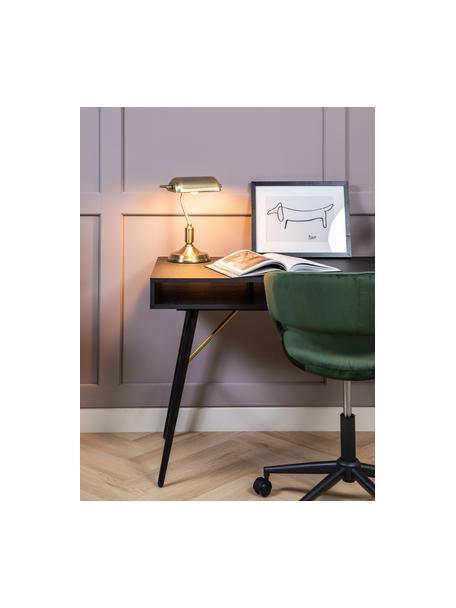 Kleine Retro-Schreibtischlampe Bank aus Metall, Lampenschirm: Metall, beschichtet, Lampenfuß: Metall, beschichtet, Messingfarben, 22 x 34 cm