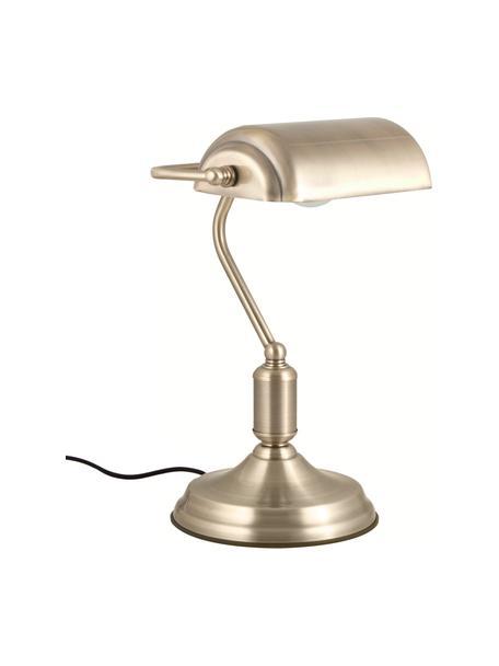 Lampa biurkowa w stylu retro z metalu Bank, Odcienie mosiądzu, S 22 x W 34 cm