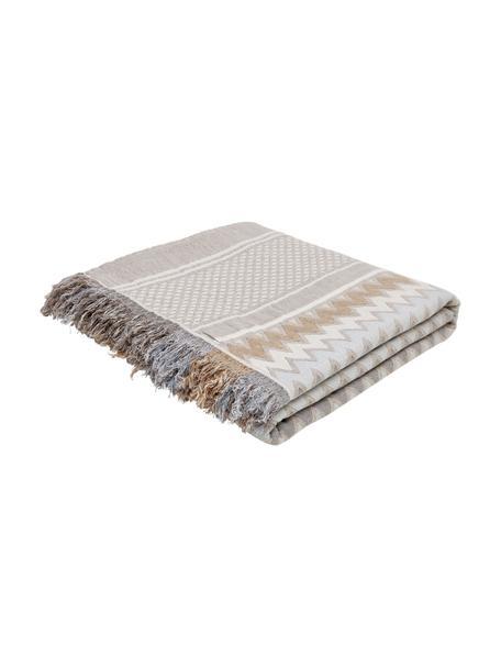 Narzuta Oglio, 100% bawełna, Beżowy, S 180 x D 235 cm (do łóżek od 140 x 200)