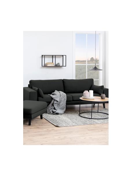 Estante de pared de madera y metal Seaford, Estantería: tablero de fibras de dens, Estructura: metal con pintura en polv, Marrón, An 73 x Al 37 cm