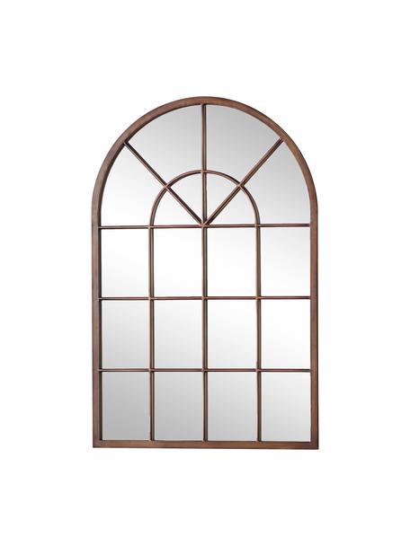 Specchio da parete con cornice in metallo Kelford, Cornice: metallo verniciato, Superficie dello specchio: lastra di vetro, Bronzo, Larg. 60 x Alt. 90 cm