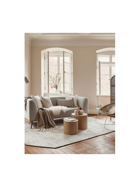 Sofa Archie (2plazas), Tapizado: 100%lana 30.000ciclos , Estructura: madera de pino, Patas: madera de roble aceitada, Tejido beige, An 162 x F 90 cm