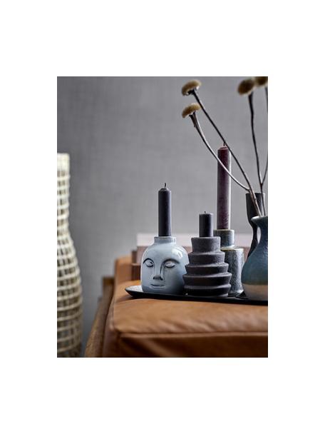 Świecznik Karalie, Kamionka, Czarny, Ø 7 x W 9 cm