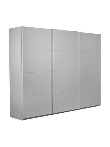 Kleiderschrank Mia mit 3 Schiebetüren in Grau, Holzwerkstoff, beschichtet, Grau, 270 x 210 cm