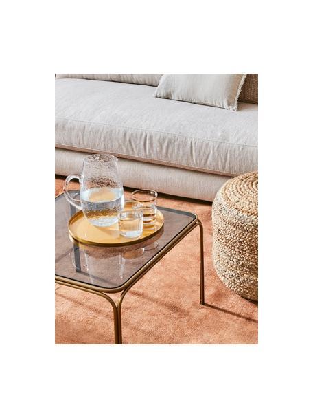 Grosser mundgeblasener Krug Hammered mit gehämmerter Oberfläche, 2 L, Glas, mundgeblasen, Transparent, Ø 14 x H 22 cm