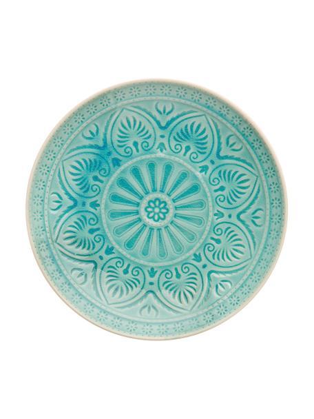 Piattino da dessert turchese Sumatra, Terracotta, Turchese, Ø 21 cm