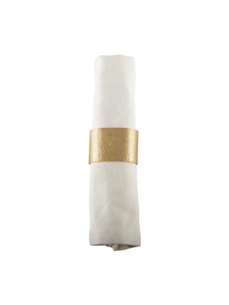 Obrączka na serwetkę Simple, 4 szt., Aluminium powlekane, Odcienie złotego, szczotkowany, S 4 x W 5 cm