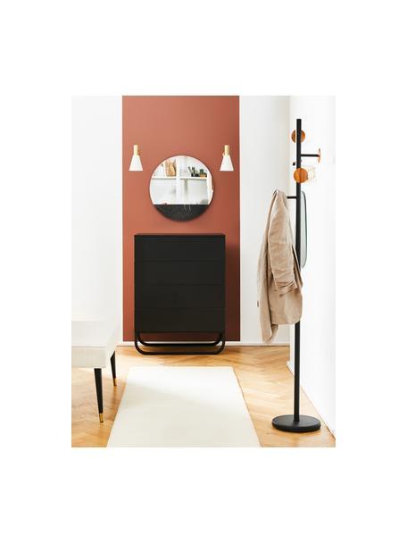 Szafka z szufladami Sanford, Korpus: płyta pilśniowa średniej , Czarny, S 80 x W 106 cm