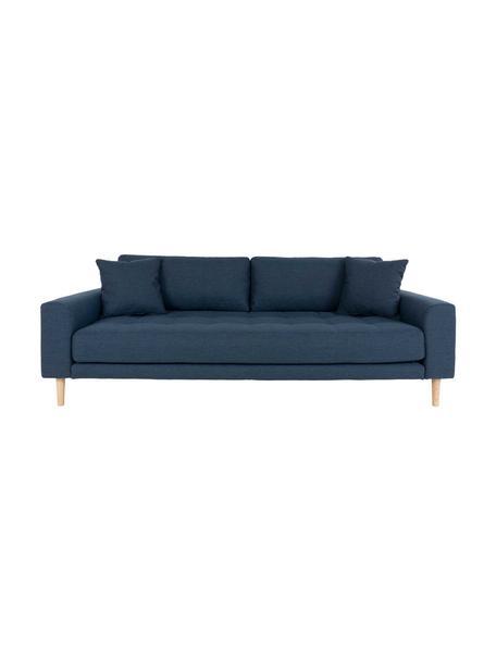 Sofa Andrew (3-osobowa), Tapicerka: poliester 30000 cykli w , Nogi: drewno jodłowe, Ciemny niebieski, S 210 x G 93 cm