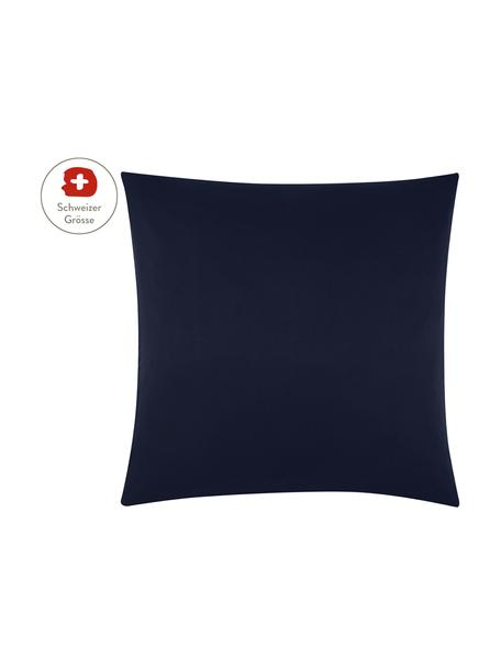 Baumwollsatin-Kissenbezug Comfort in Dunkelblau, 65 x 65 cm, Webart: Satin, leicht glänzend Fa, Dunkelblau, 65 x 65 cm