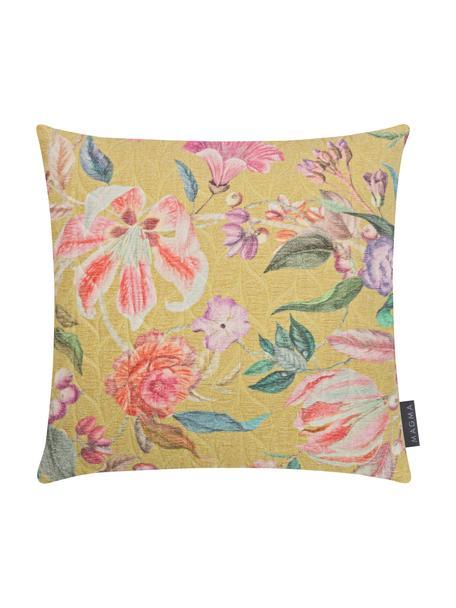 Poszewka na poduszkę z bawełny Annie, Musztardowy, wielobarwny, S 40 x D 40 cm