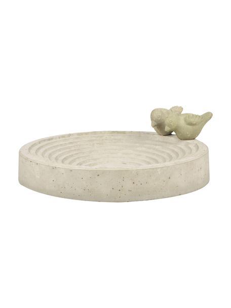 Baño para pájaros Bettany, Gris cemento, Gris, Ø 29 x Al 11 cm