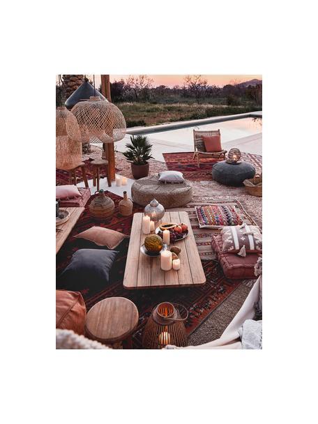 Stolik kawowy ogrodowy z drewna tekowego Newport, Drewno tekowe z recyklingu, Drewno tekowe, S 140 x W 16 cm