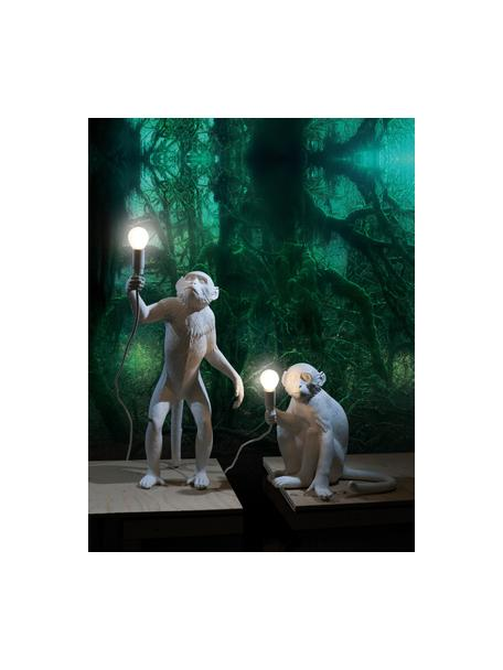 Design Tischlampe Monkey, Weiß, 34 x 32 cm