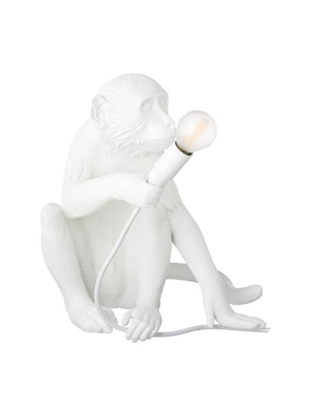 Lámpara de mesa de diseño Monkey, Lámpara: resina, Cable: plástico, Blanco, An 34 x Al 32