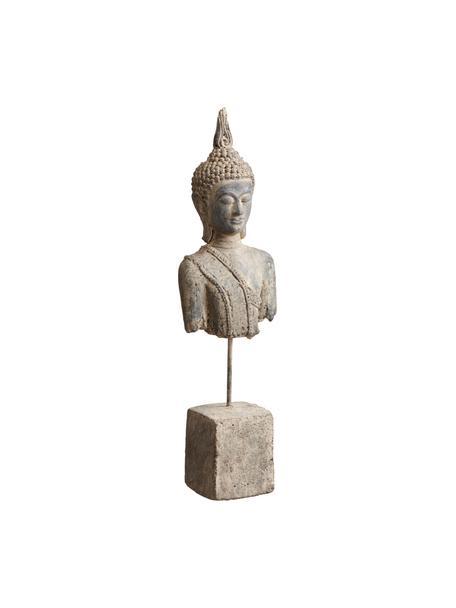 Deko-Objekt Buddha, Steingut, Beige, 7 x 38 cm