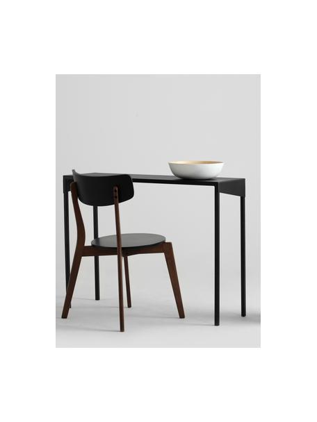 Consolle nera Obroos, Metallo verniciato, Nero, Larg. 100 x Prof. 30 cm
