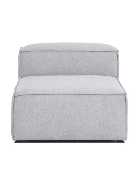 Módulo central sofá Lennon, Tapizado: 100%poliéster Alta resis, Estructura: madera de pino maciza, ma, Patas: plástico Las patas están , Tejido gris claro, An 89 x F 119 cm