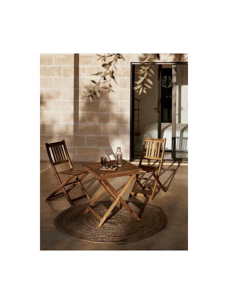 Set tavolo e sedie da giardino in legno di acacia Skyler 3 pz, Marrone, Set in varie misure