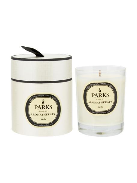 Duftkerze Aromatherapy (Vanille), Behälter: Glas, Transparent, Weiß, Gelb, Ø 8 x H 9 cm