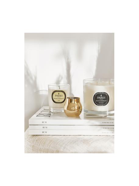 Geurkaars Aromatherapy (vanille), Houder: glas, Transparant, wit, geel, Ø 8 x H 9 cm