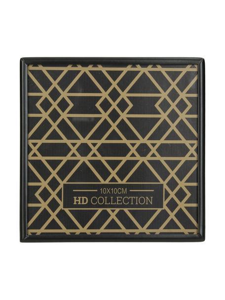 Bilderrahmen Insta, Rahmen: Metall, beschichtet, Front: Glas, Rückseite: Mitteldichte Holzfaserpla, Schwarz, 10 x 10 cm