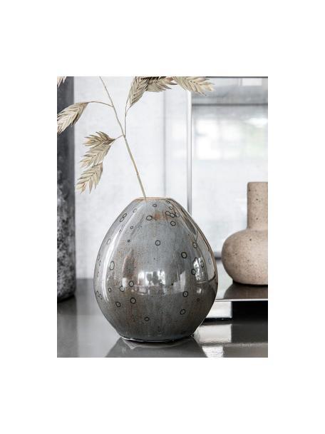 Kleine handgefertigte Vase Baby aus Steingut, Steingut, Braun, glänzend, Ø 9 x H 10 cm