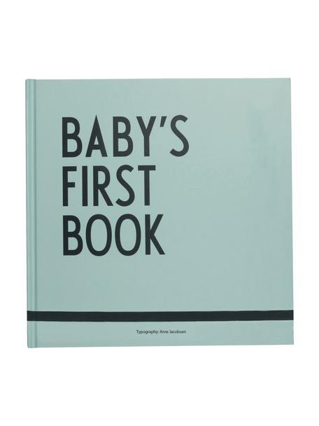 Erinnerungsbuch Baby´s First Book, Papier, Mintgrün, 25 x 25 cm