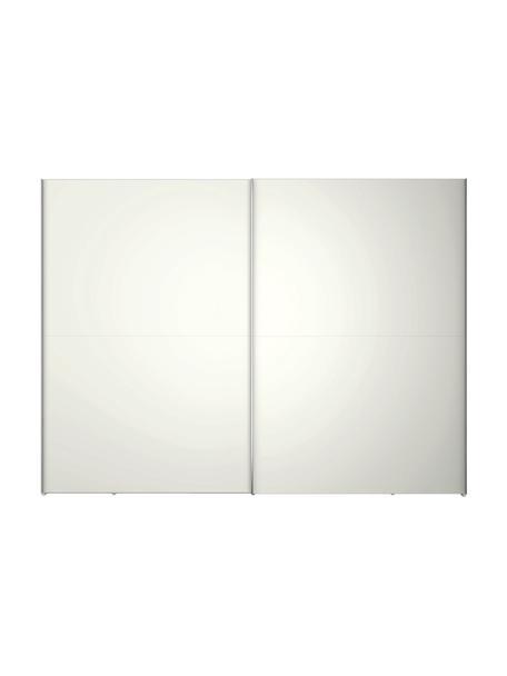 Kledingkast Oliver met schuifdeuren in wit, Frame: panelen op houtbasis, gel, Wit, 302 x 225 cm