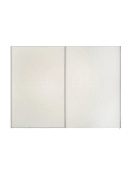 Kledingkast Oliver met 2 schuifdeuren, inclusief montageservice, Frame: panelen op houtbasis, gel, Wit, 302 x 225 cm